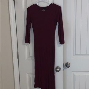 Fitted Burgundy Dress